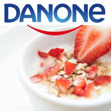 Упаковка йогуртов DANONE/Семейные пары