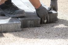 Укладчик брусчатки/ тротуарной плитки, на прямую