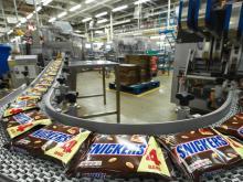 Упаковщики на кондитерскую фабрику Snickers