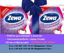 Упаковка туалетной бумаги ZEWA/ВроцлавЗП до 4200zl