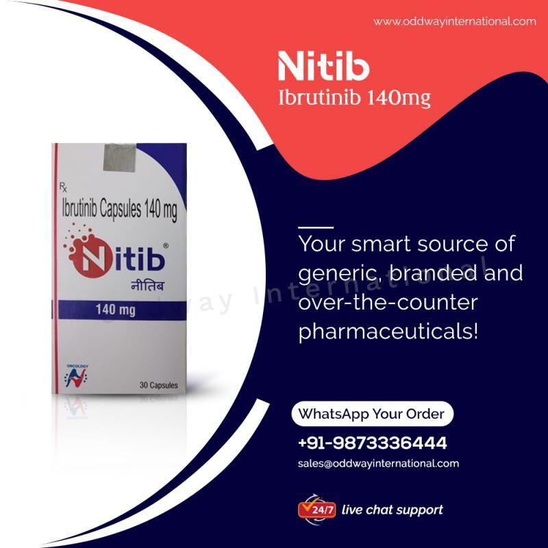 Купити Нітиб Ібрутиніб 140 мг ціна в Інтернеті