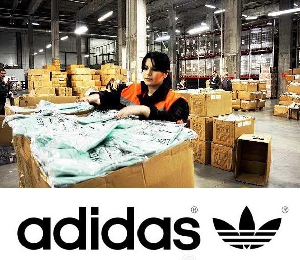 Пакувальники одягу на підприємство Adidas