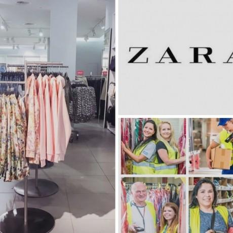 Сбор заказов на складе одежды ZARA в Сважендзе