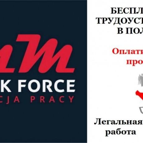 Бесплатные вакансии в Польше для разнорабочих.